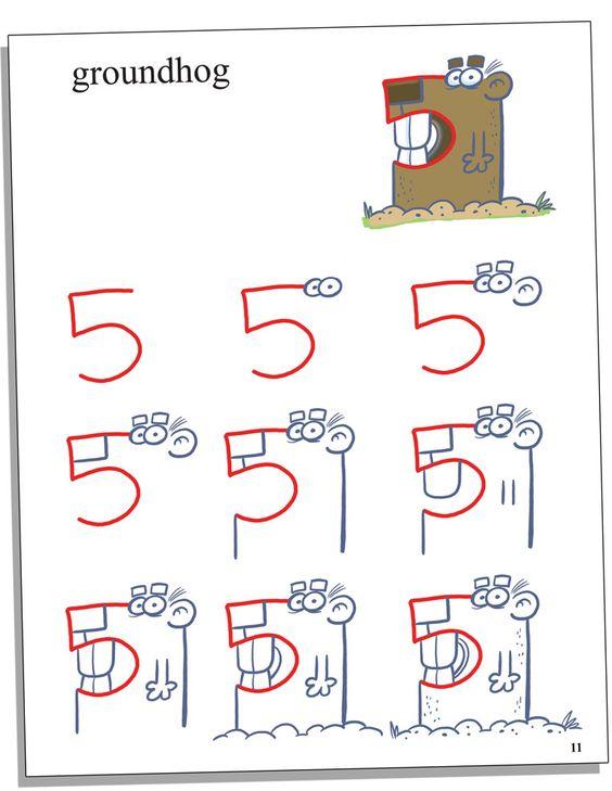 Belajar Menggambar untuk Anak : Cara menggambar dari angka 5