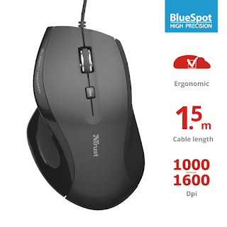 TRUST MOUSE TRAX WIRED 1600 DPI 22931