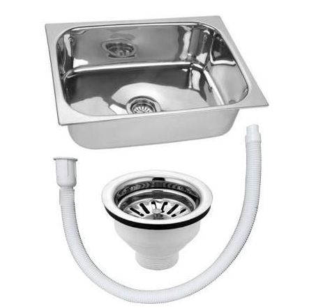 CROCODILE Stainless Steel Single Bowl Kitchen Sink
