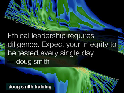 Ethical leadership requires diligence