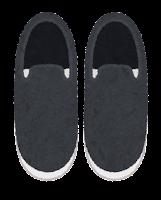上から見た靴のイラスト(スリッポン)