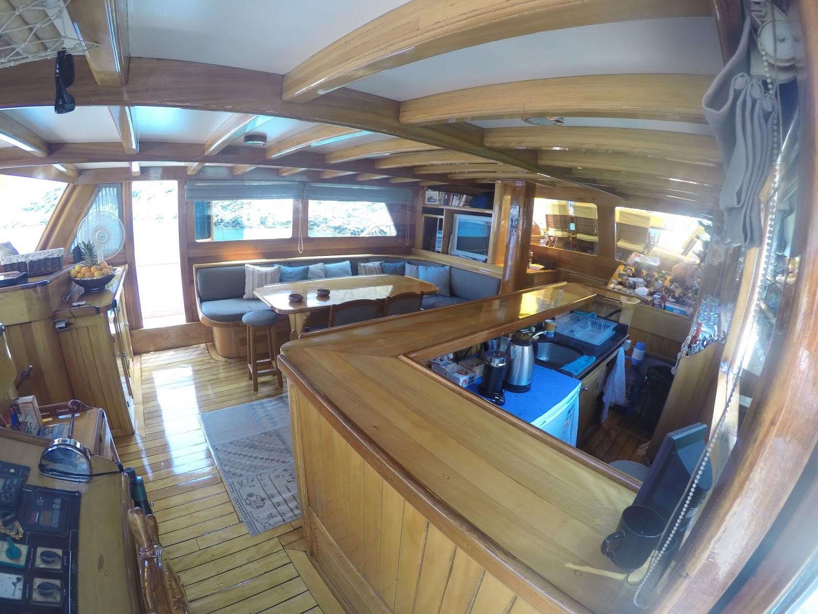 Inside of Luxury Gulet