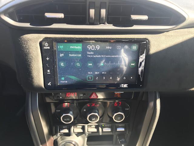 Infotainment and HVAC in 2020 Toyota 86 Hakone Edition