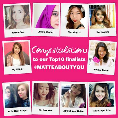 LOREAL PARIS MATTEABOUT YOU Top 10 Finalist