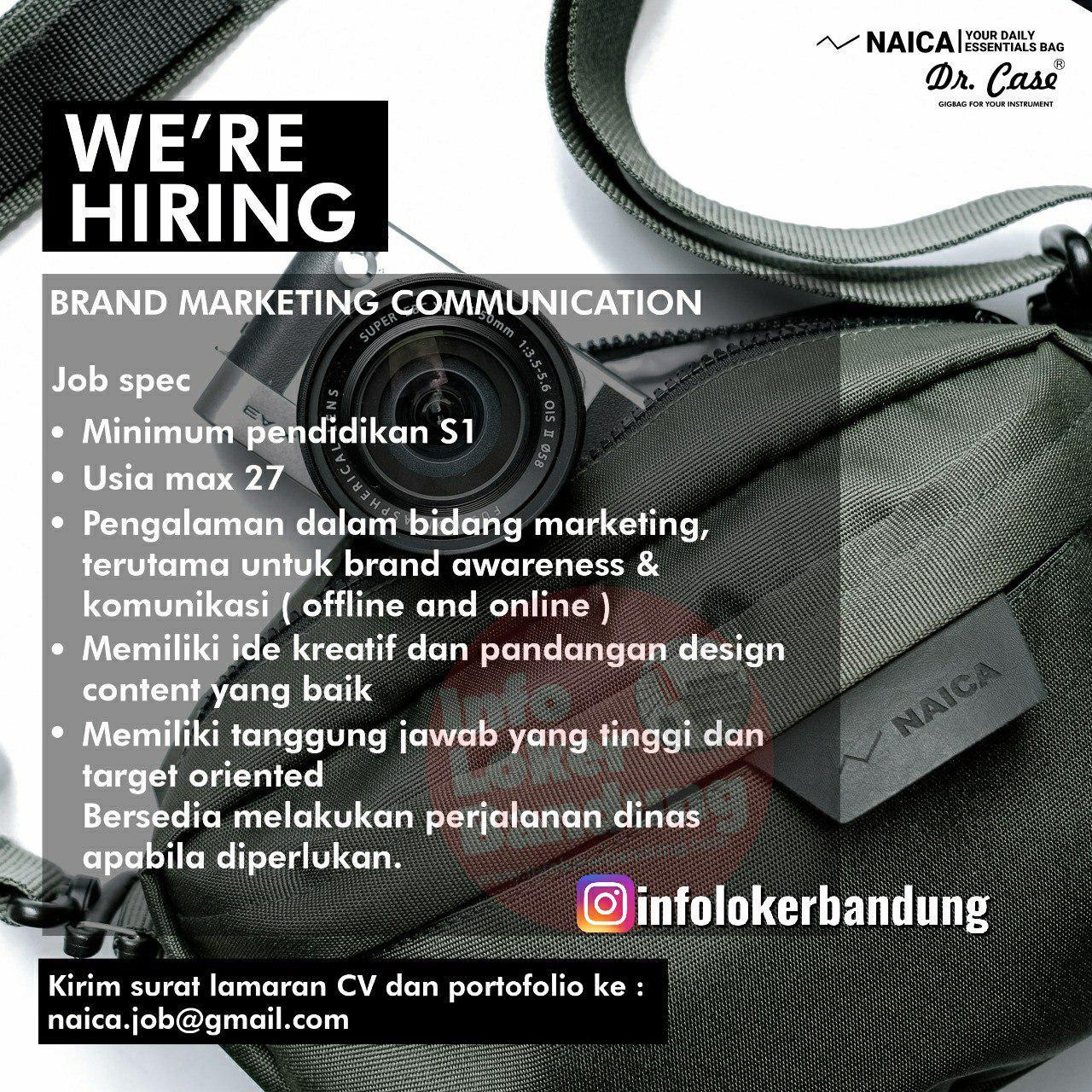 Lowongan Kerja Brand Marketing Communication Naica Bandung Oktober 2019