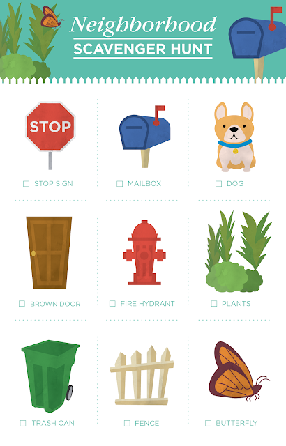 Neighborhood Scavenger Hunt Printable