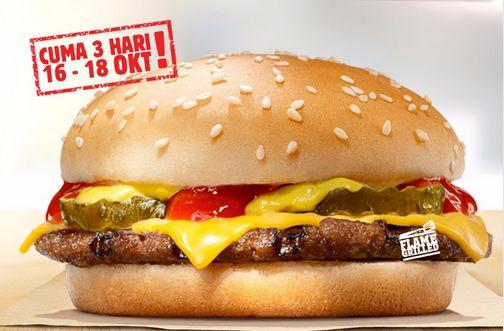 Ada promo murah di Burger King hari ini