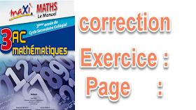 correction exercices maxi maths