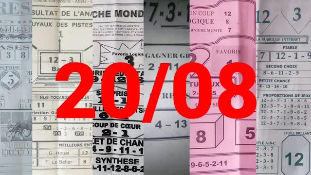 Pronostics quinté+ pmu Vendredi Paris-Turf-100 % 20/08/2021
