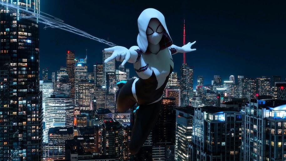 Spider-Gwen, Web Shoot, 4K, #6.2086