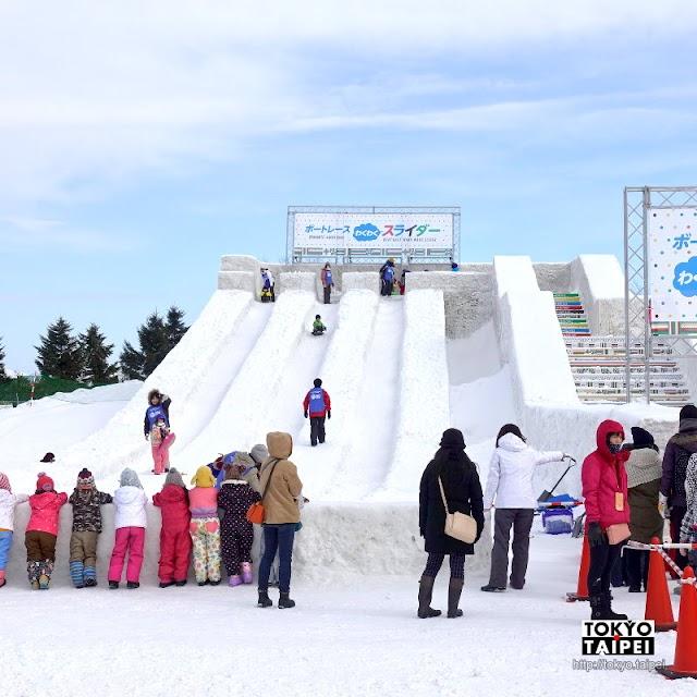 【札幌雪祭TSUDOME會場】歡樂的雪上遊樂世界 冰雪滑梯免費溜