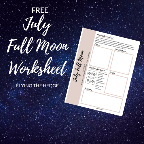 July Full Moon Worksheet