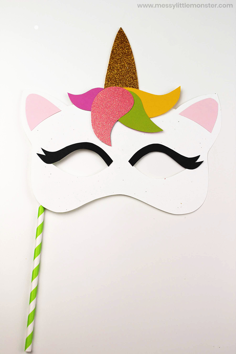 unicorn mask craft template
