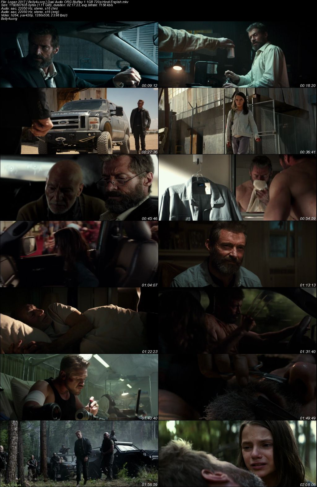 Logan 2017 BluRay 480p Hindi English Dual Audio ORG 400MB Download