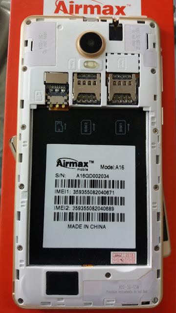 Airmax A16 Flash File