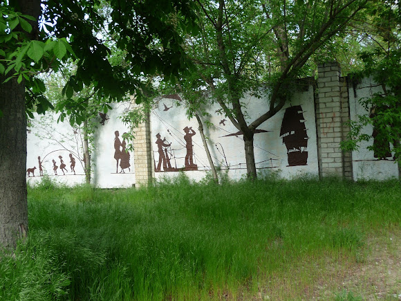 Херсон. Парк «Херсонская крепость». Забор, ограждающий телевышку