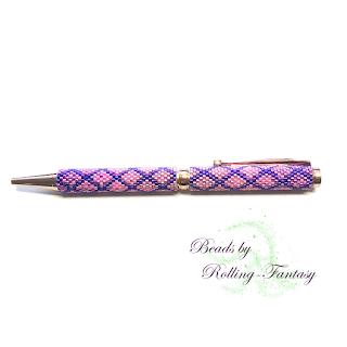 exklusiver Kugelschreiber in Blau und Pink