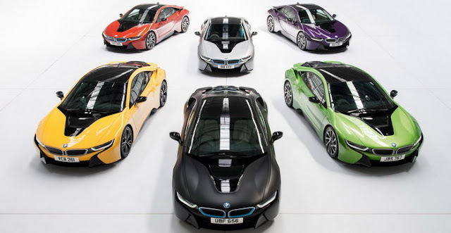 BMW offers a private individual colors and distinctive model i8 in Britain