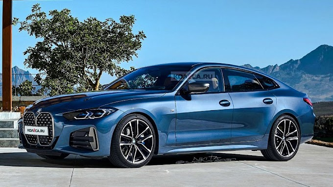 2021 BMW 4 Series Gran Coupe is shown online digital