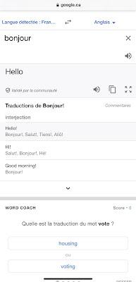 Word Coach de Google