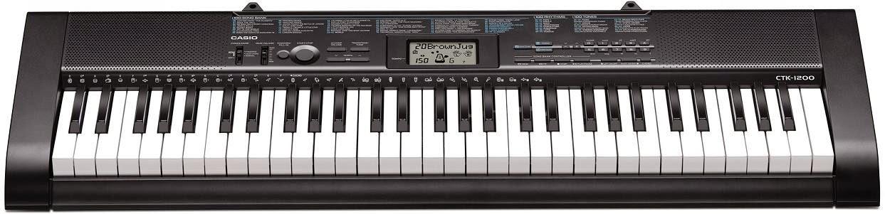 kabum teclado digital casio 61 teclas ctk 1200. Black Bedroom Furniture Sets. Home Design Ideas