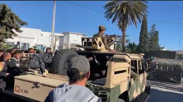الشابة : انسحاب الجيش الوطني من تأمين المقرات الامنية بالجهة