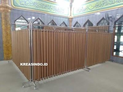 Hijab Masjid Stainless pesanan Bpk Asep untuk Masjid Al Furqon Bandara Soekarno Hatta Cengkareng