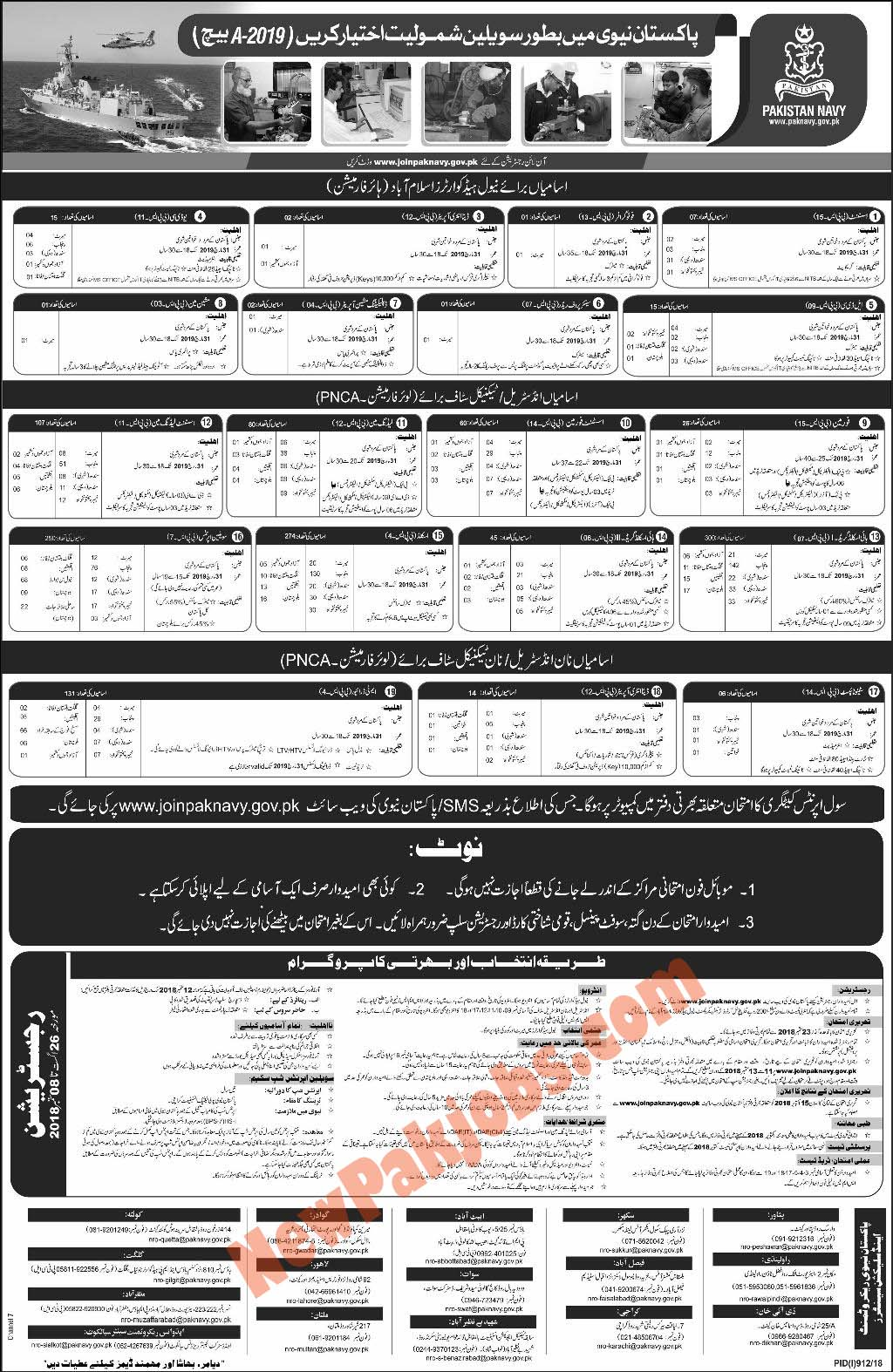 Join Pak Navy as Civilian Batch A 2019 September newpakjobs.com