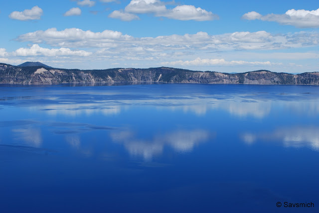 Blue waters of Crater Lake
