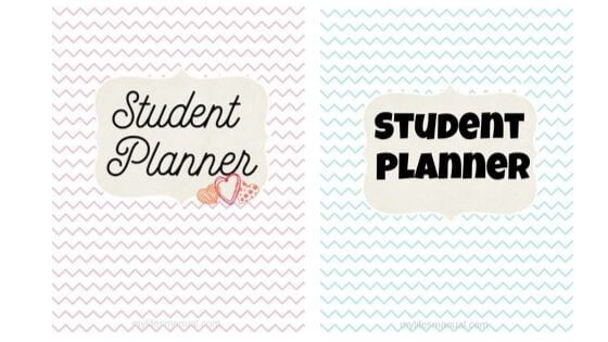 School Planner For Kids Printables