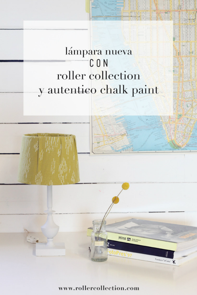 lámpara chalk paint Autentico Roller Collection