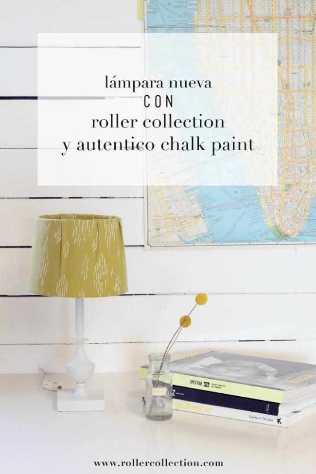 lámpara chalk paint Autentico Roller Collection