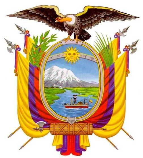 Modern version of the Escudo del Ecuador national emblem