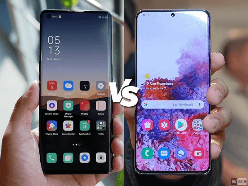 OPPO Find X2 Pro vs Samsung Galaxy S20 Ultra Specs Comparison