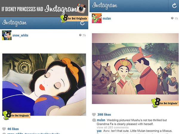 What If Disney Princesses Were On Instagram