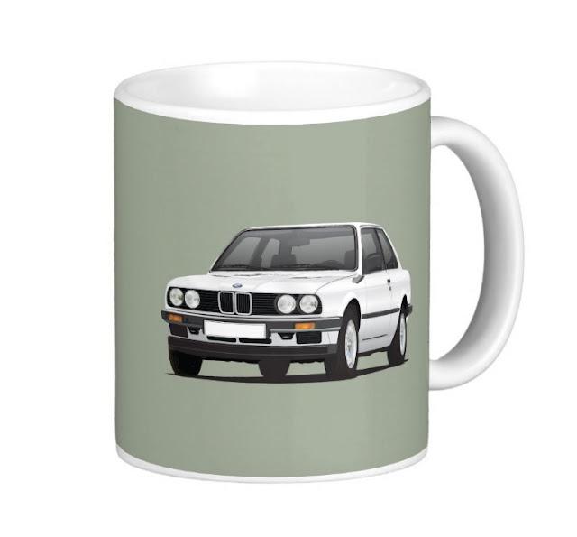 BMW E30 (3 Series) illustration mug  @Zazzle Store