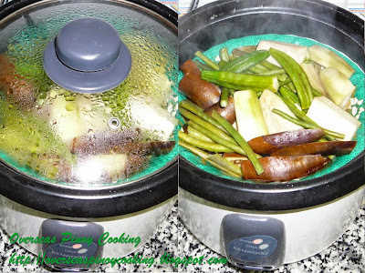 Steamed Vegetables, Pinasingaw na Gulay - Cooking Procedure
