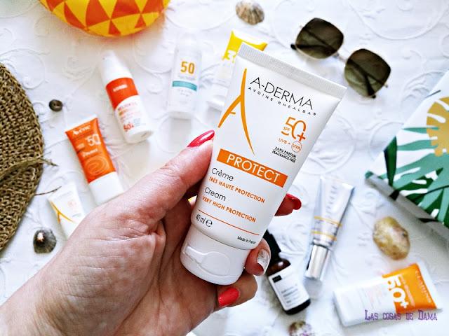A-Derma Protect Protección Solar Facial antiaging antienvejecimiento sunprotect beauty salud belleza antiedad manchas
