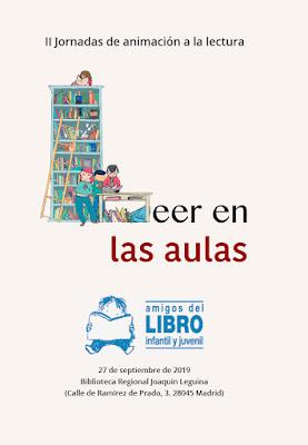 Cartel de las jornadas propuestas por los Amigos del Libro Infantil y Juvenil