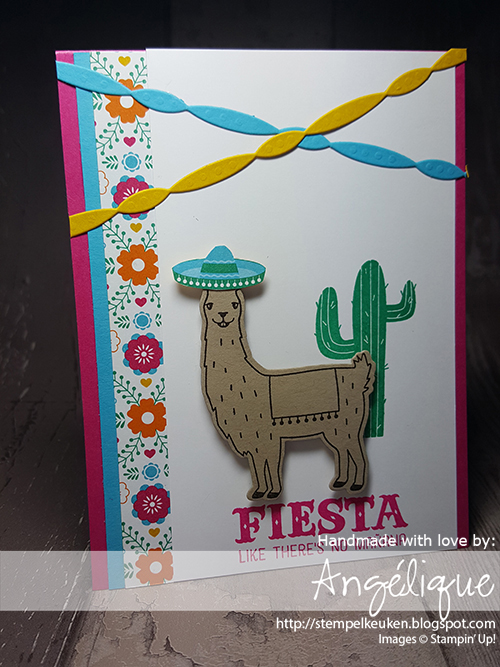 Bestel jouw Stampin' Up! producten bij de Stempelkeuken http://stempelkeuken.blogspot.com/2017/05/global-stamping-friends-are-saying.html #melonmambo #birthdayfiesta #cincodemayo #stampinup #stempelkeuken #stampinupnl #flowers #lama #cactus #bigshot #verjaardag #birthday #celebrate #celebrating