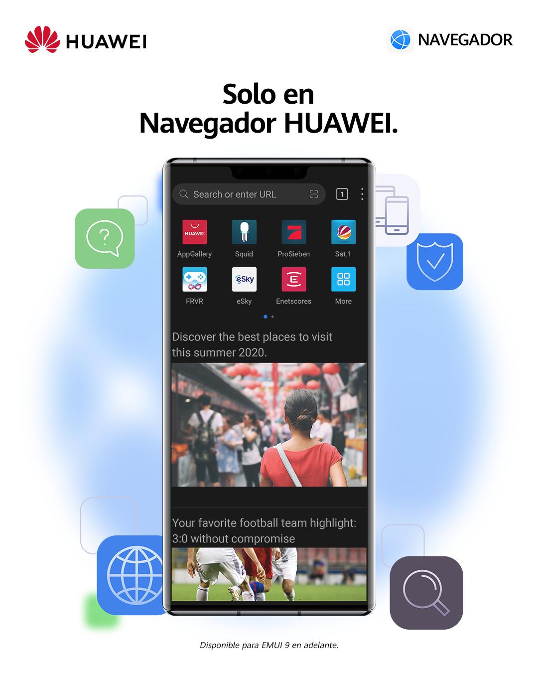 Huawei ajusta el newsfeed de su navegador