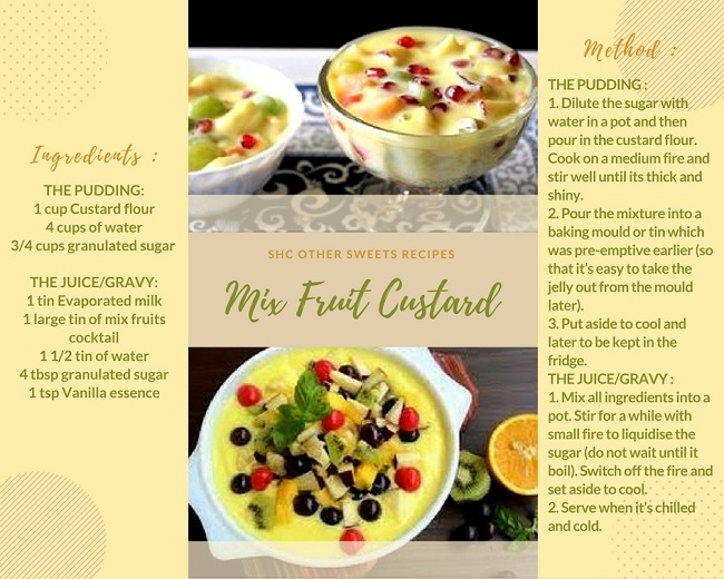 MIX FRUIT CUSTARD RECIPE