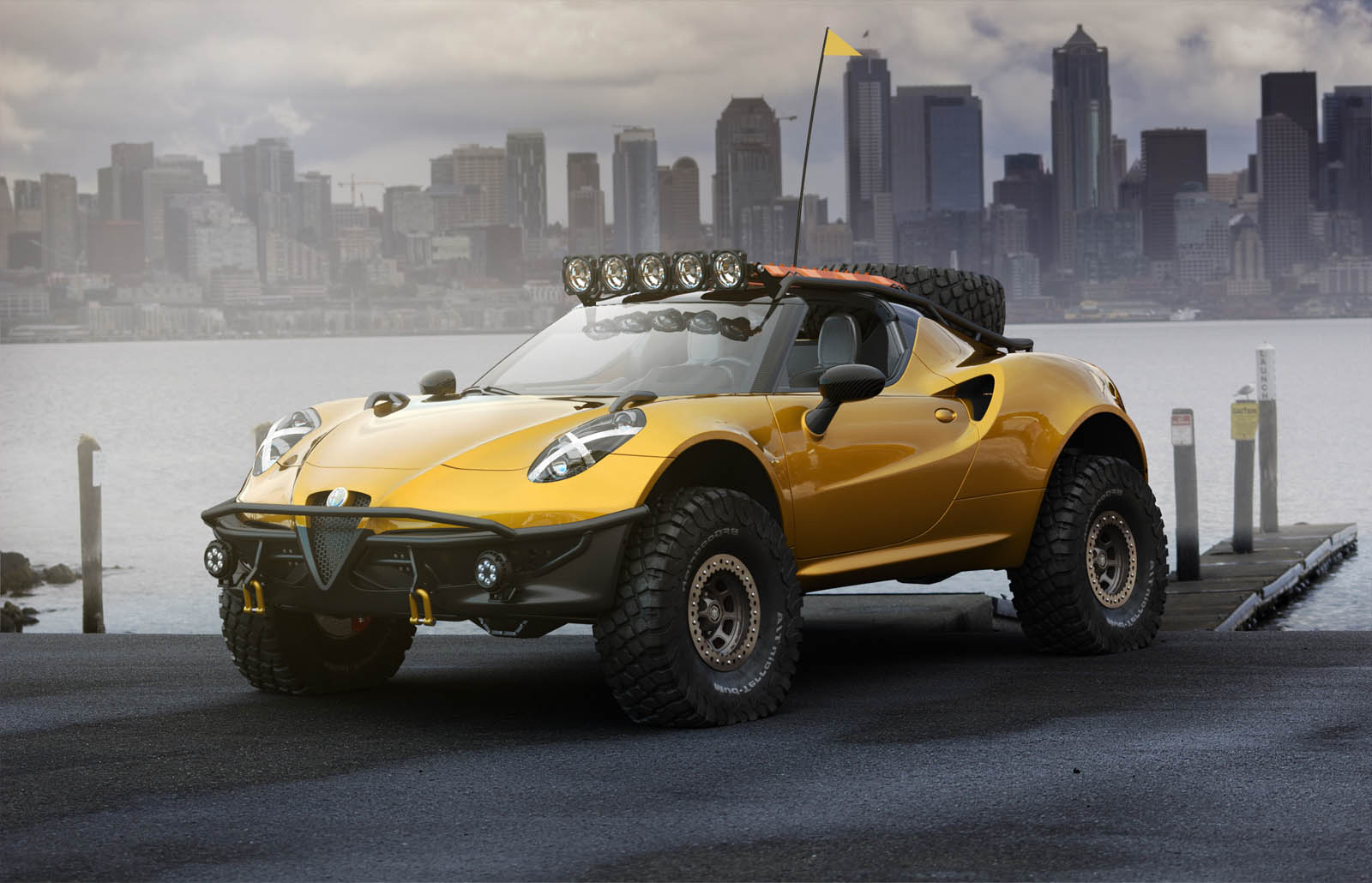 alfa romeo 4c looks killer however unlikely in dakar. Black Bedroom Furniture Sets. Home Design Ideas