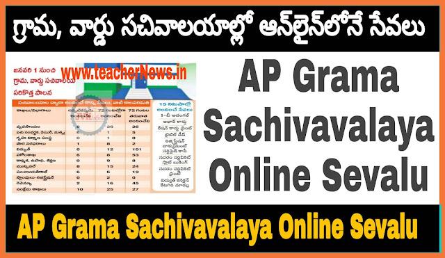 AP Grama Sachivavalaya Online Sevalu (500) Details | How to Apply Spandana Program
