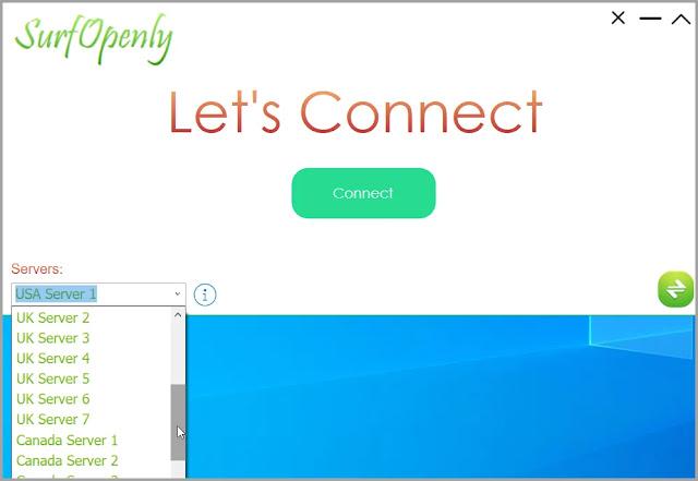 SurfOpenly :  Δωρεάν εφαρμογή VPN στην υπηρεσία της ανωνυμίας