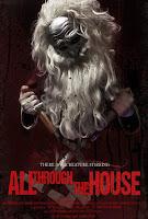 affiche du slasher ALL THROUGH THE HOUSE avec son Père Noël tueur