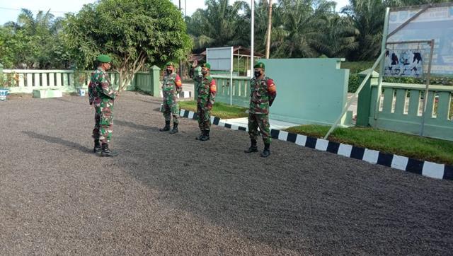 Personel Jajaran Kodim 0207/Simalungun Laksanakan Apel Pagi Sebelum Melaksanakan Gakplin Diwilayah