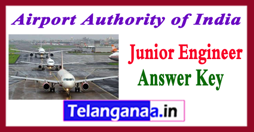 AAI JE Airport Authority of India Junior Engineer  Answer Key 2018