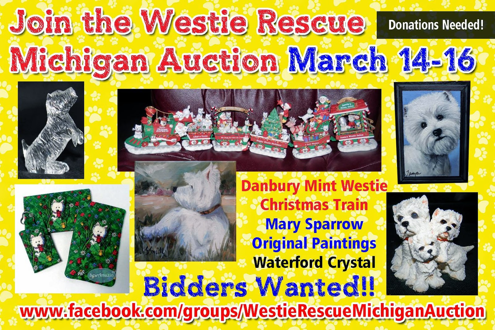Westie Rescue Michigan Auction group on Facebook