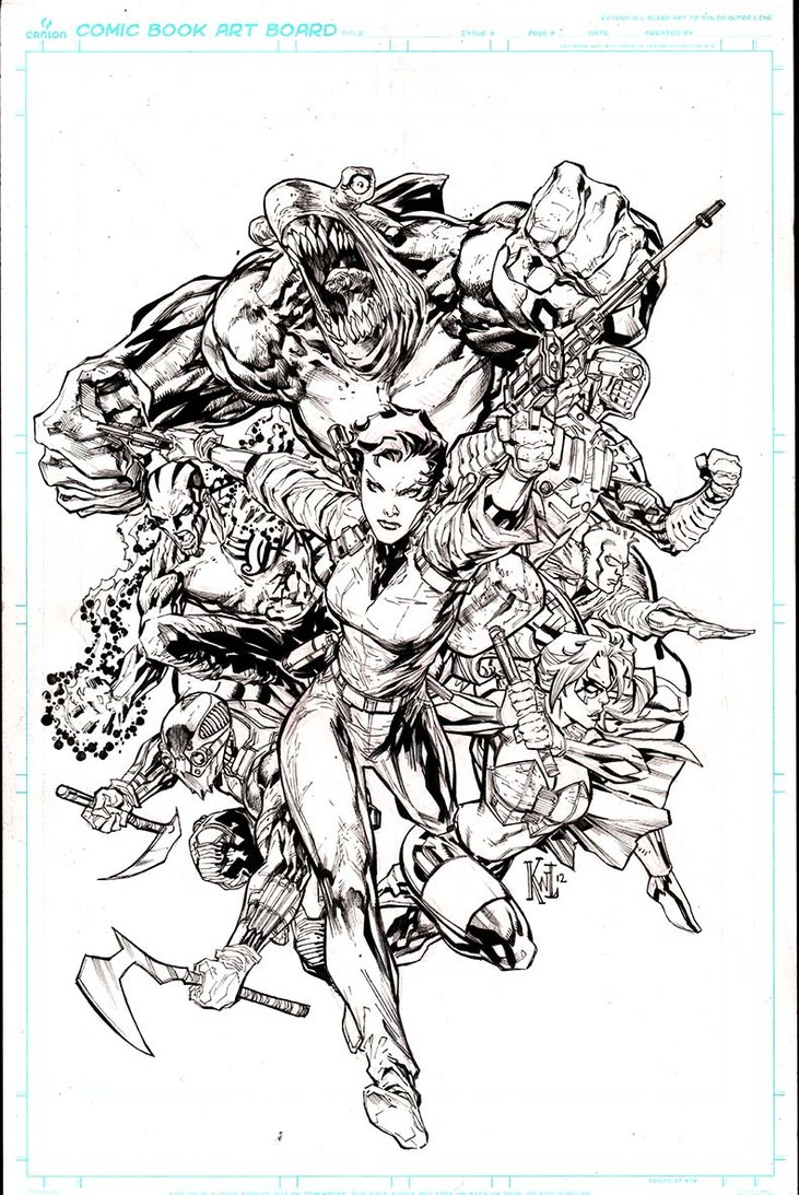 coloring pages of suicide squad - march 2013
